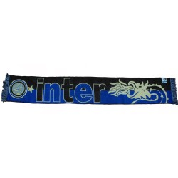 Inter scarf jacquard black Biscione official