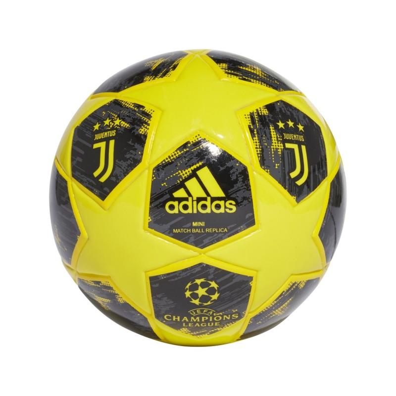 Adidas Juventus Mini balón de la Liga de Campeones 2018 19 amarillo 4576ff4d5f8e3