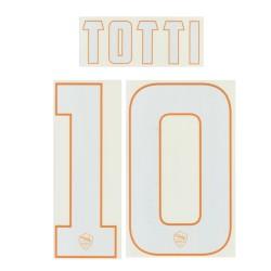 COMO Roma 10 Totti nombre y número de casa camiseta 2014/15