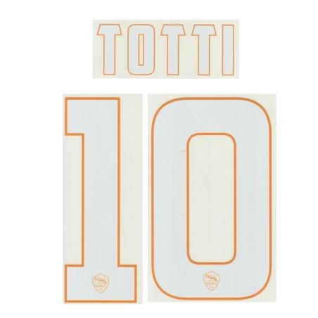 L'as Roma 10 Totti nom et le numéro de home shirt 2014/15
