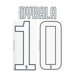 Juventus 10 Dybala name und nummer auf trikot home third 2017/18
