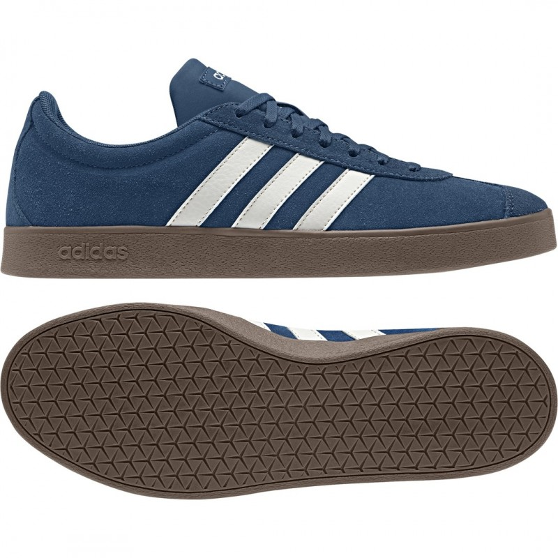 check out cfe36 4c2cd Adidas VL Court 2.0 Skateboard Sneakers Shoes Legend Marine