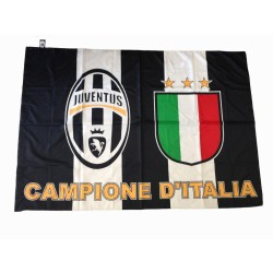 Flag Juventus Champions of Italy 2016/17 100x140 cm