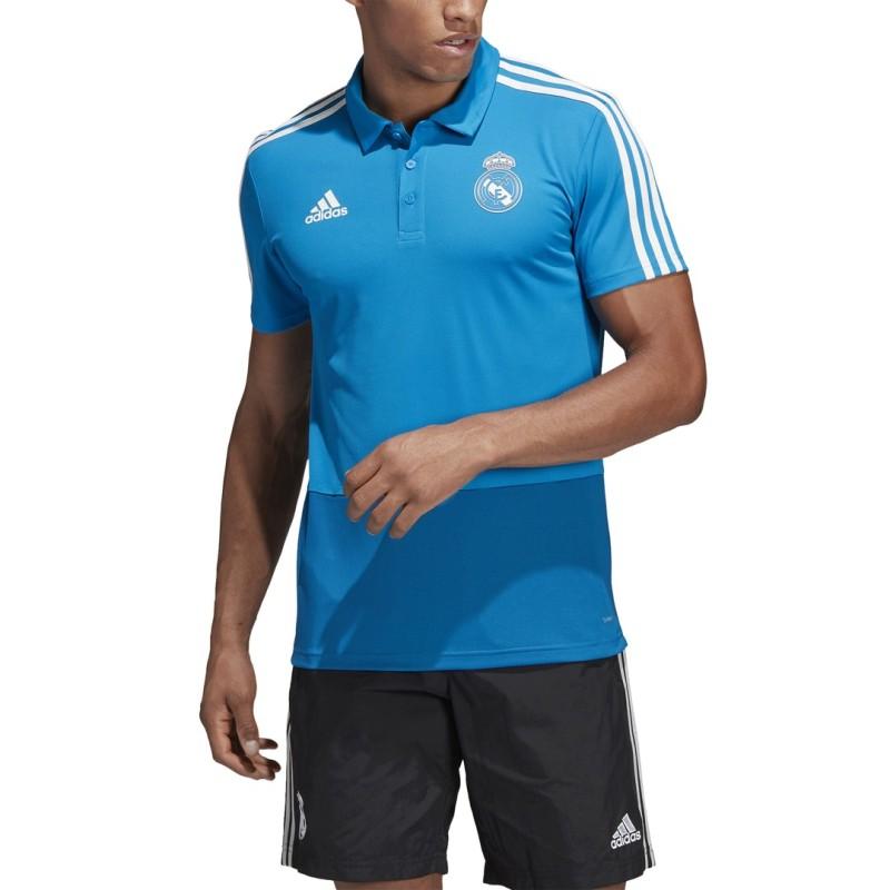 Real Madrid polo blau Adidas 2018/19