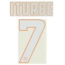 Roma, 7 de Iturbe nombre y número de la casa camiseta 2014/15