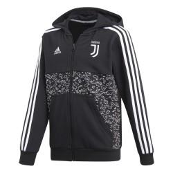 Juventus felpa con cappuccio nera bambino 2018/19 Adidas