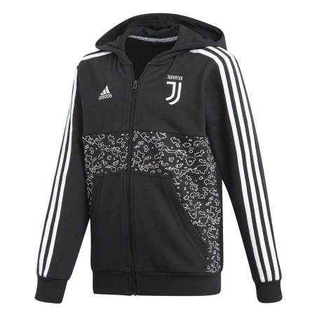 Juventus turin sweatshirt mit kapuze schwarzes kind 2018/19 Adidas