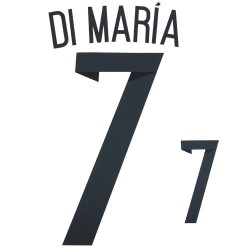 Argentina 7 Di Maria name and number home shirt 2014/16