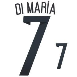 Argentine 7 Di Maria nom et le numéro maillot domicile 2014/16