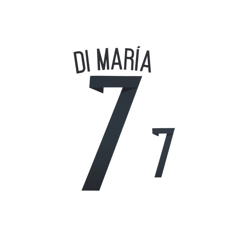 Argentina 7 Di Maria name and number home shirt 2014/16