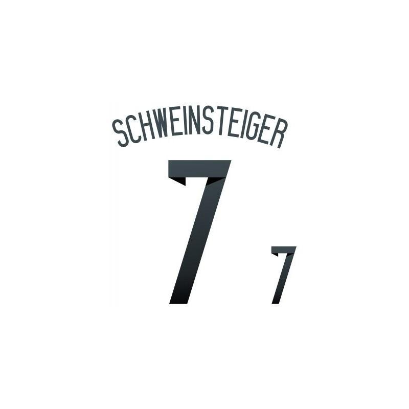 Germania 7 Schweinsteiger nome e numero maglia home 2014/16