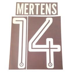 Napoli 14 Mertens nom et le numéro maillot domicile 2017/18