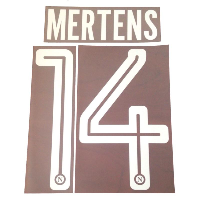 Napoli 14 Mertens nome e numero maglia home 2017/18
