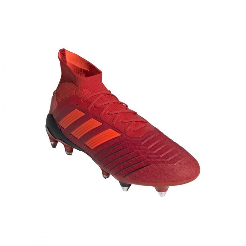 De Predator Adidas 19 1 Rouge Chaussures Sg Football PiukXZ