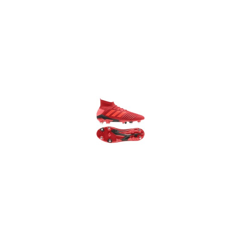 Chaussures de Football Adidas Predator 19.1 SG Rouge