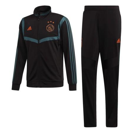 Ajax tuta panchina allenamento nera 2019/20 Adidas