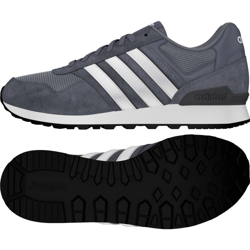 Adidas chaussures de 10K blanc gris Baskets Neo