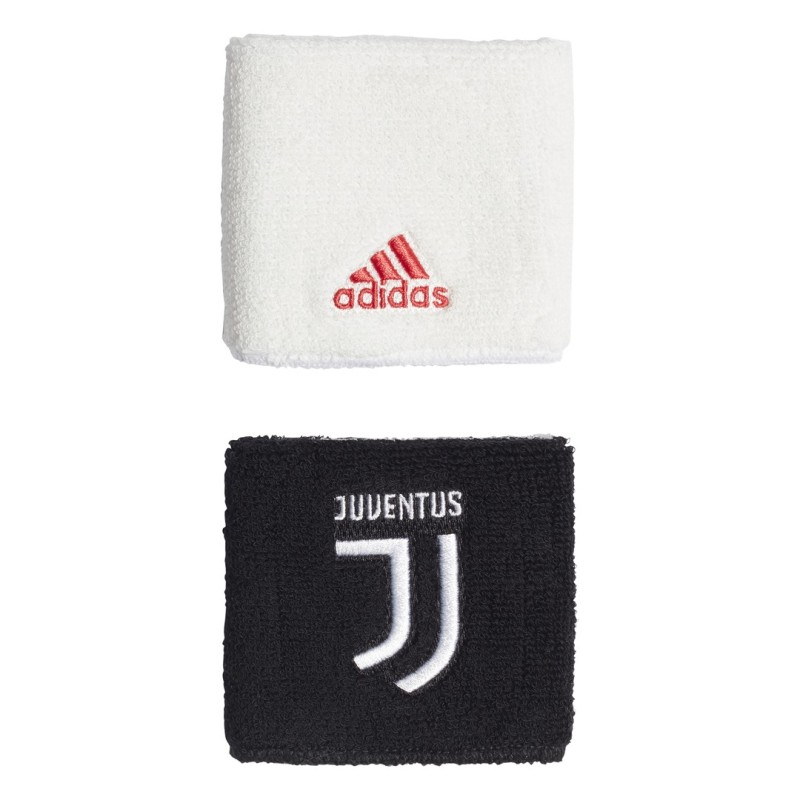 Juventus coppia polsini bianco nero 2019/20 Adidas
