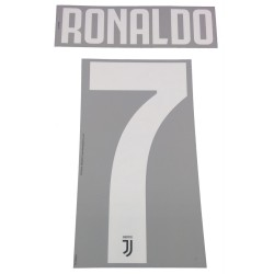 Juventus 7 Ronaldo name and number home shirt 2019/20