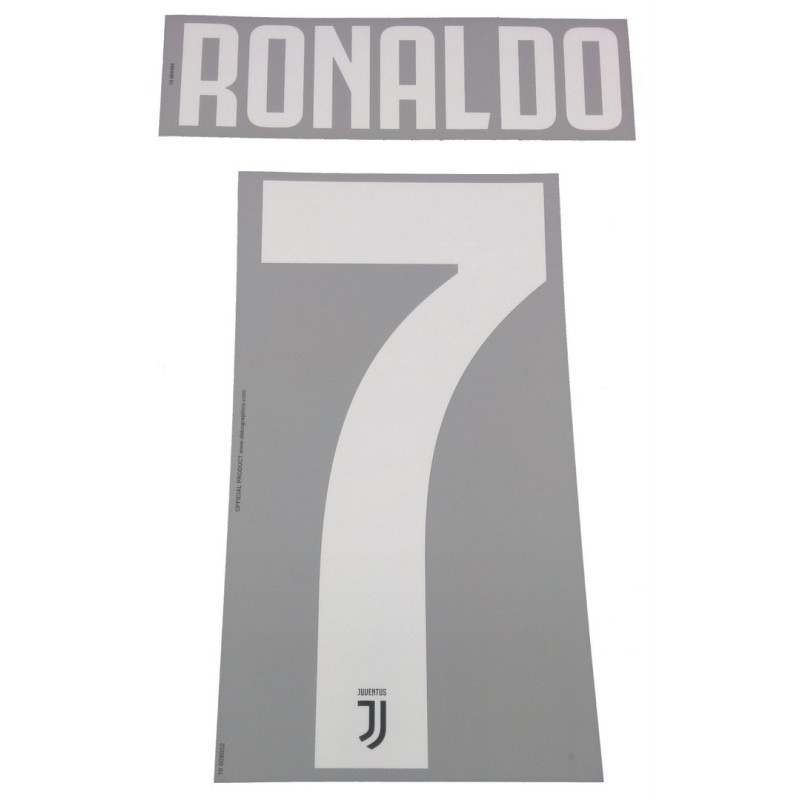 La Juventus 7 Ronaldo nom et le numéro maillot domicile 2019/20