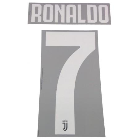 Juventus 7 Ronaldo nome e numero maglia home 2019/20