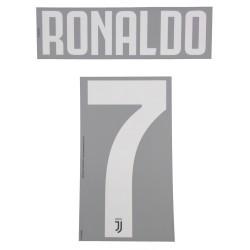 Juventus 7 Ronaldo name und nummer auf trikot kinder home 2019/20