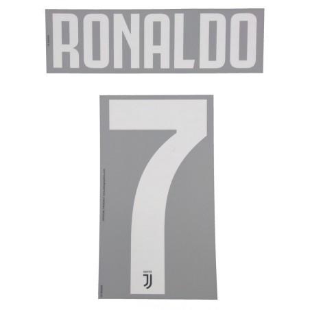 Juventus 7 Ronaldo nome e numero maglia bambino home 2019/20