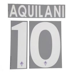 Fiorentina 10 Aquilani nom et le numéro du maillot domicile 2013/14