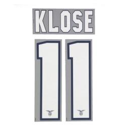 Lazio 11 Klose nombre y número de la casa camiseta 2013/14