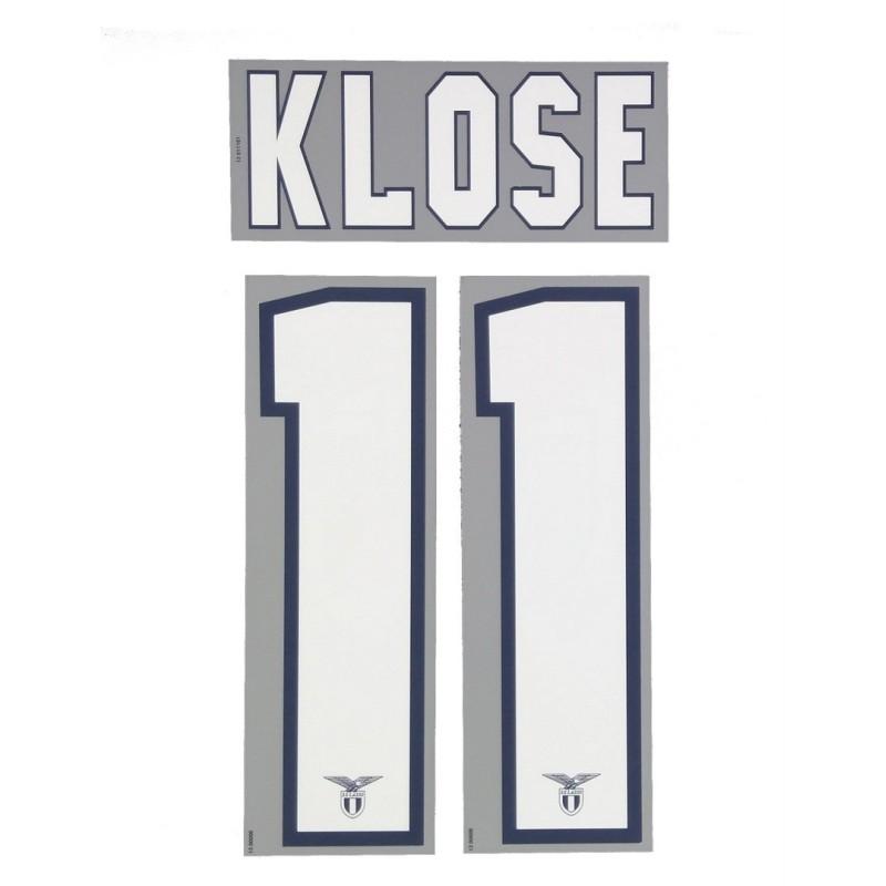 La Lazio 11 Klose nom et le numéro maillot domicile 2013/14