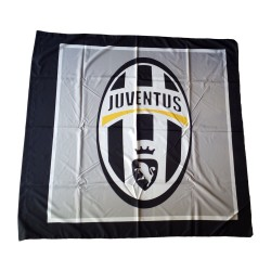 Juventus bandiera logo grigia 140x140 cm