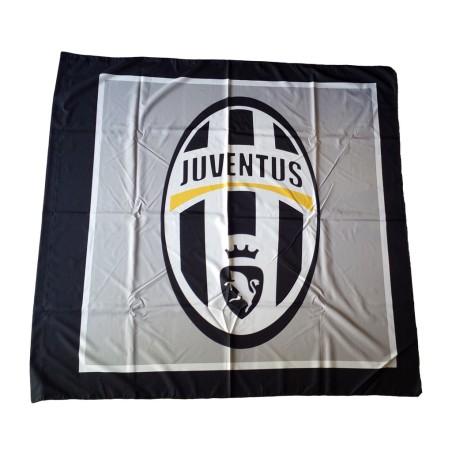 Juventus flag logo grey 140x140 cm
