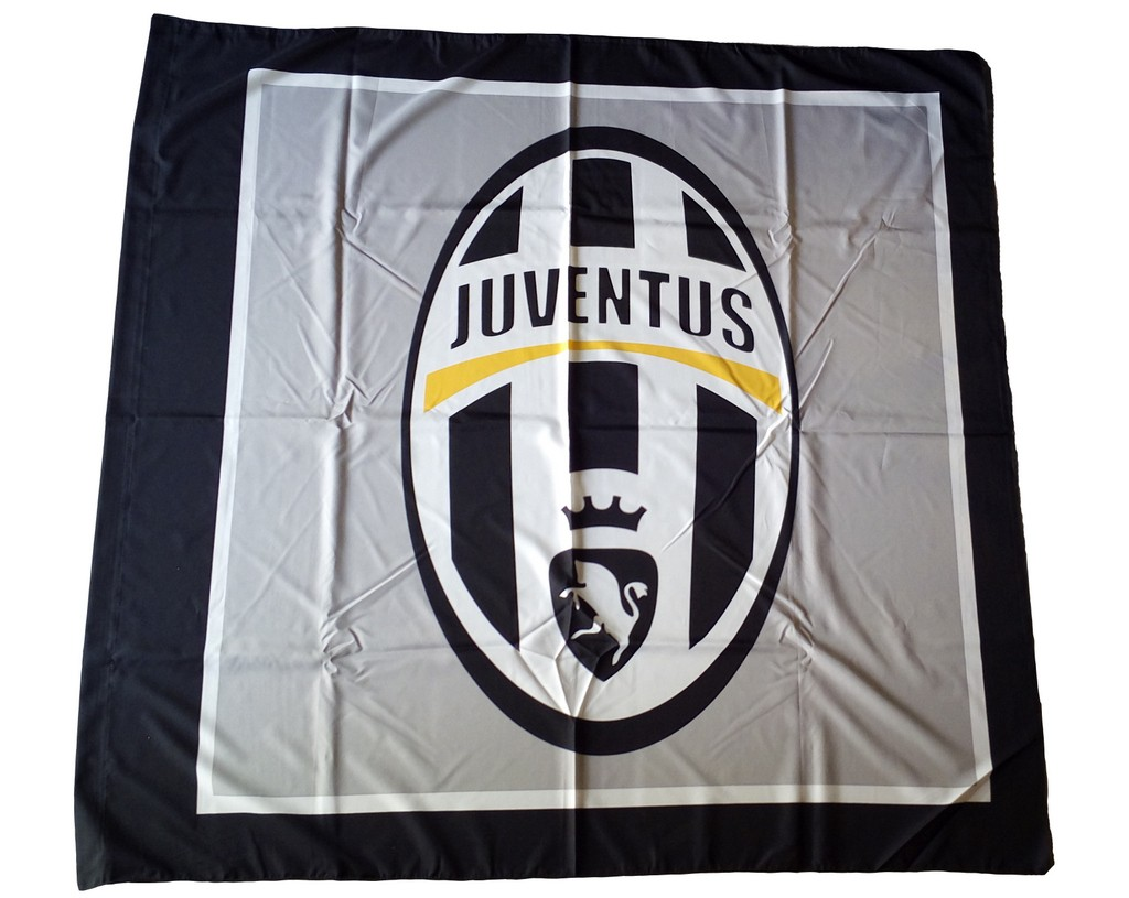 Juventus Flag Logo Grey 140x140 Cm Throne Juve