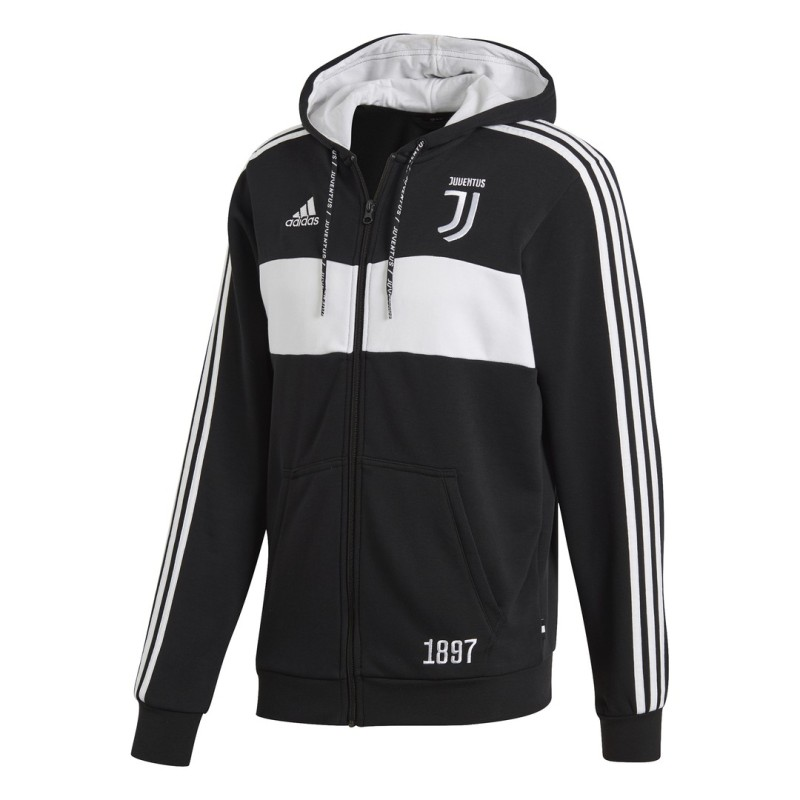 Juventus turin sweatshirt 3 Stripes mit kapuze 2018/19 Adidas