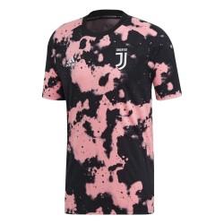 Juventus turin pre-match trikot rosa schwarz 2019/20 Adidas