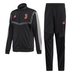 La Juventus de survêtement banc noir 2019/20 Adidas