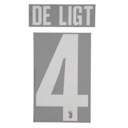 Juventus 4 De Ligt nome e numero maglia home 2019/20