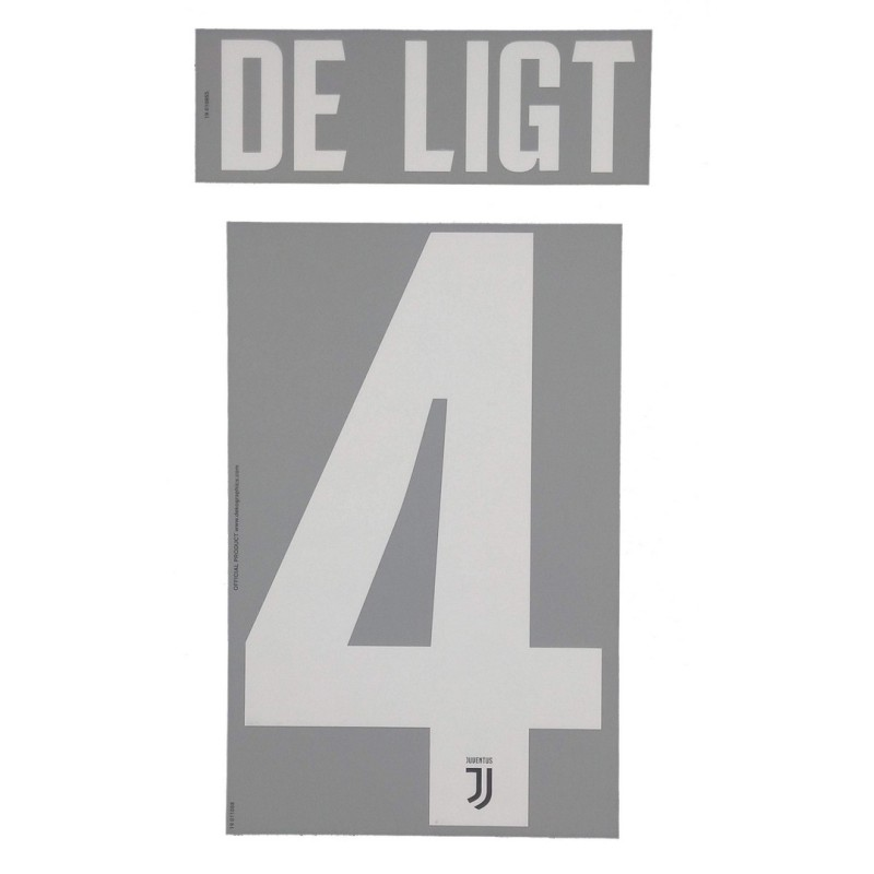 Juventus 4 De Ligt's name and number home shirt 2019/20