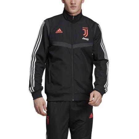 Juventus jacket representing team black 2019/20 Adidas