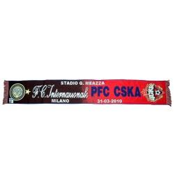 Bufanda de Inter vs CSKA Moscú de la Liga de Campeones 2012