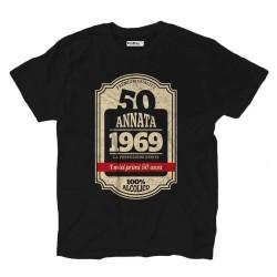 T-shirt 50° compleanno nato nel 1969