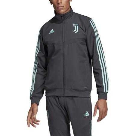 La Juventus de la chaqueta antes de la carrera de UCL de la Liga de Campeones 2019/20 Adidas