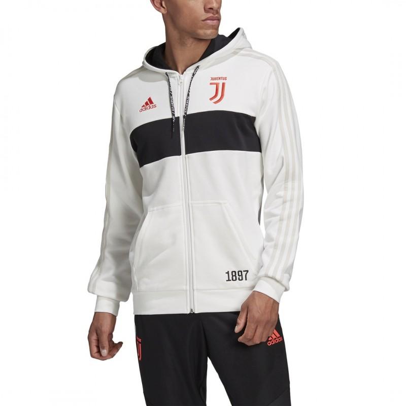 Juventus felpa fz con cappuccio bianca 201920 Adidas