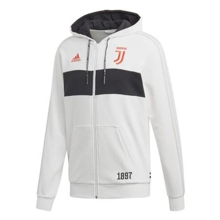 Juventus felpa fz con cappuccio bianca 2019/20 Adidas