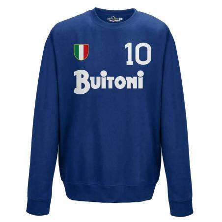 Naples sweatshirt 10 Maradona vintage crew neck scudetto in 1987/88