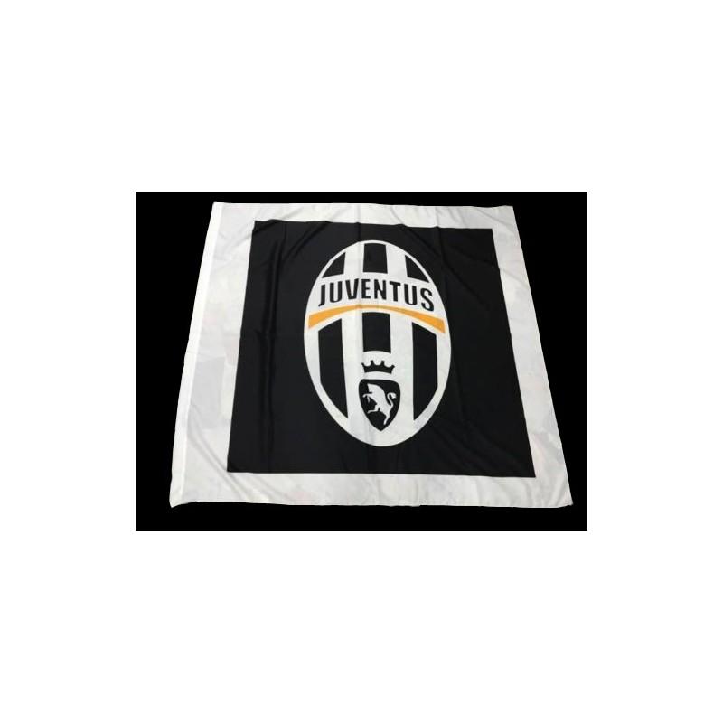 Juventus bandiera logo nero 150x140cm