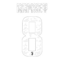 La Juventus 8 Ramsey nom et le numéro maillot domicile 2019/20