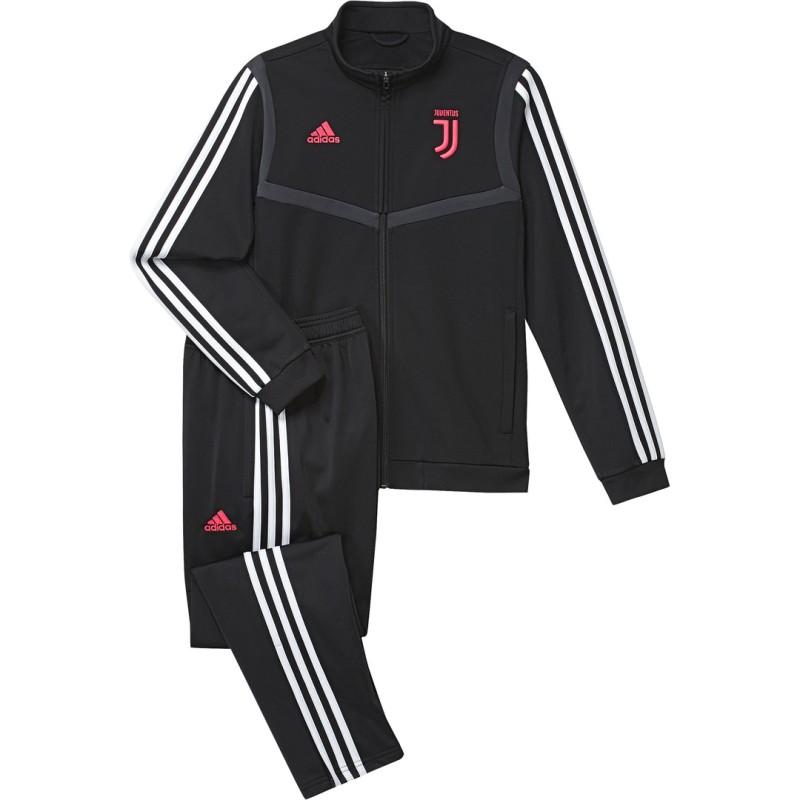 La Juventus de survêtement banc de l'enfant noir, 2019/20 Adidas