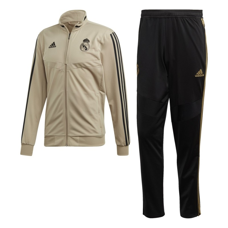 Real Madrid tracksuit bench workout gold 2019/20 Adidas