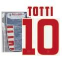 COMO Roma 10 Totti nombre y número de lejos camiseta 2014/15